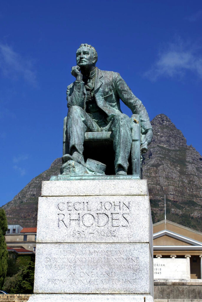 University of Cape Town, Statue of Cecil John Rhodes